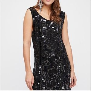 Free People Black Sequins Dress. Size 2 & 12. NWT.